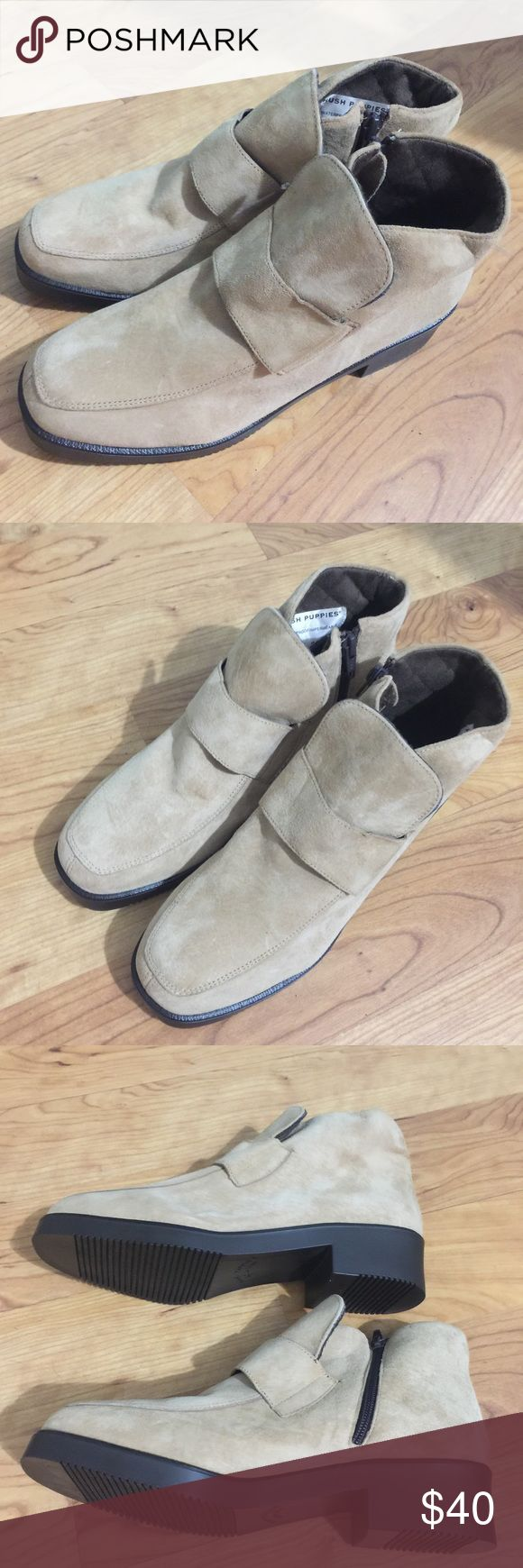 Hush Puppies Side zip waterproof ankle boot NEW New! Never worn! One scuff from knocking against another pair of shoes. Quilted interior suede outside. Super cute! Any questions please ask! Hush Puppies Shoes Ankle Boots & Booties
