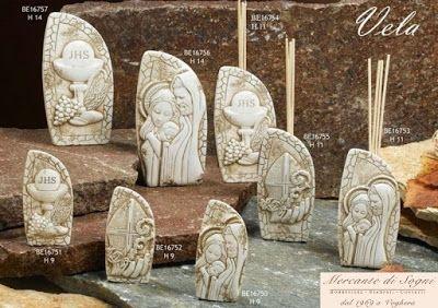 """Collezione """"DC.se"""" Linea Vela in bassorilievo Icone e profumatori  Sacra Famiglia Comunione - Cresima - Putto  Misure: piccola e grande  Linea bomboniere Vela composta da articoli di vario genere tutti con bassorilievo raffigurante Sacri. Sono tutte realizzate con grande cura in marmo/resina. Sono tutte di ottima qualità rigorosamente made in Italy  Read more: http://mercantedisognivoghera.blogspot.com/2015_11_04_archive.html#ixzz3rDnlHwaC"""