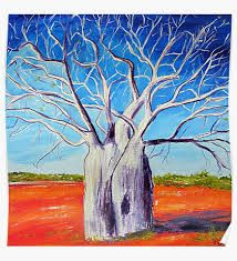 Image result for painting sunset baobab tree