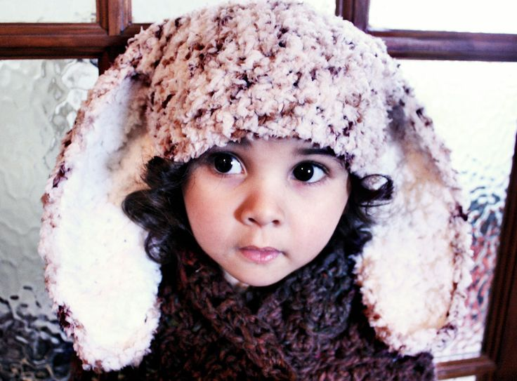 SUMMER SALE* Speckled brown and cream unisex bunny hat for girls and boys, handmade with love by Babamoon   - Size 2T to 4T -   * Can be made in a choice of colours  * Can by made in sizes Preemie to Adult.  * Order now for Halloween!  * Get 20% off! minimum order applies ->