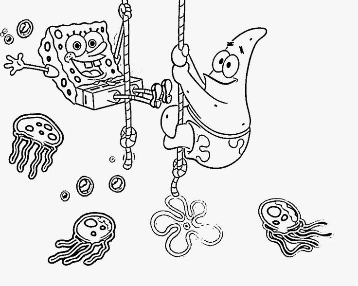 spongebob christmas clipart. spongebob coloring pages online that ...