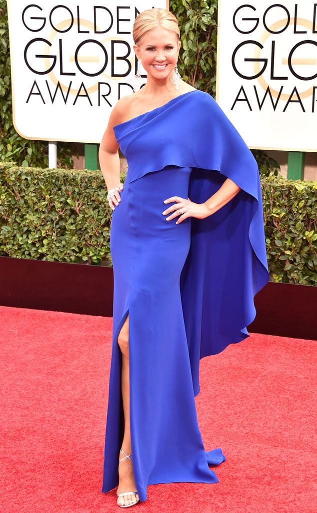 Nancy O'Dell 2015 Golden Globes. I am in love with this dress! Second favorite look! Love! Love! Love!