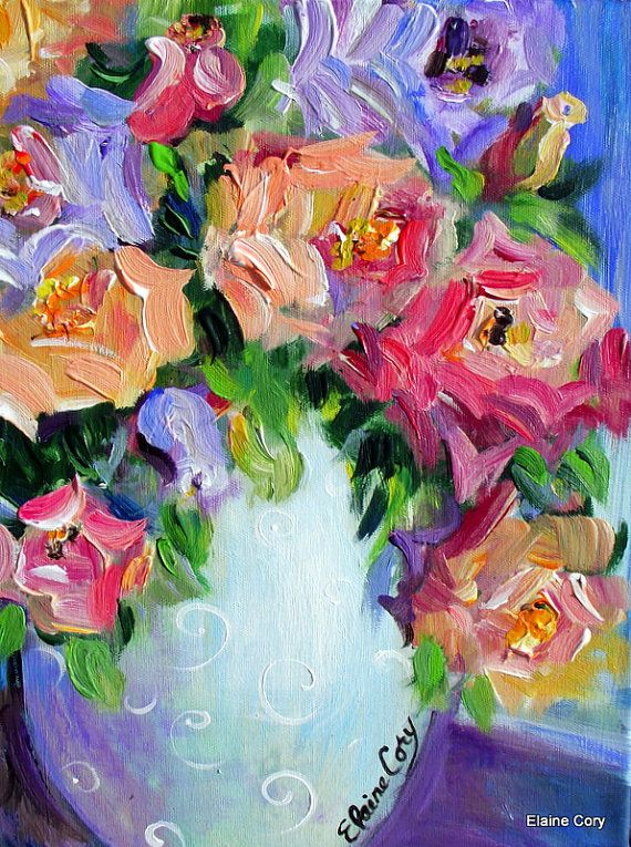 Apricot Roses Still Life Oil  Reserved for Buyer   12 x 16
