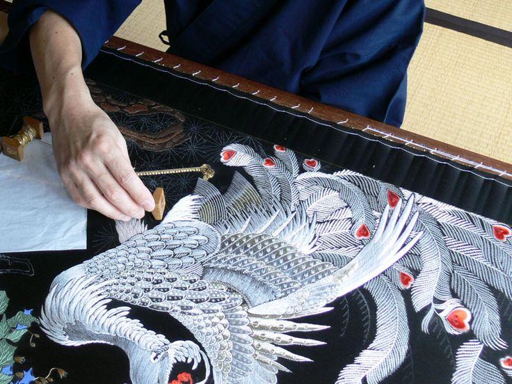 Japanese embroidery / Kurenai-kai