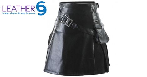 Show off your masculinity and gender supremacy with this leather kilt. http://bit.ly/1zBmbhx #leather #women #fashion