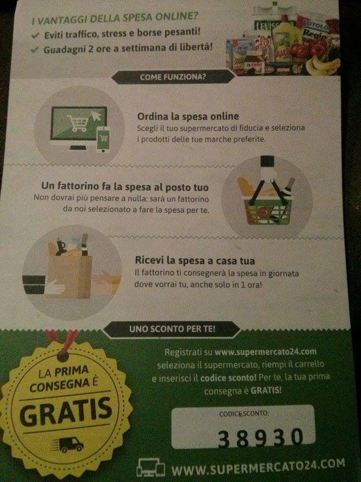 #Supermercato24: la #spesa acquistata #online direttamente a #casa tua! #alimenti #bevande #cosmetici prodotti per l'#igiene e tanto altro ancora