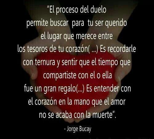 El proceso del duelo según Jorge Bucay.