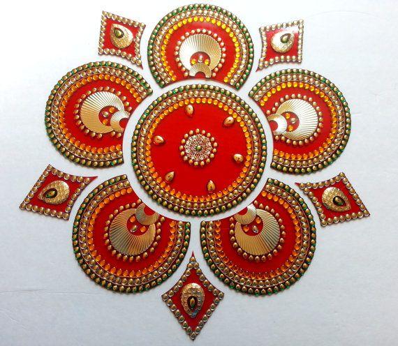 Rangoli Sunflower Rangoli Elegant Rangoli by JustForElegance