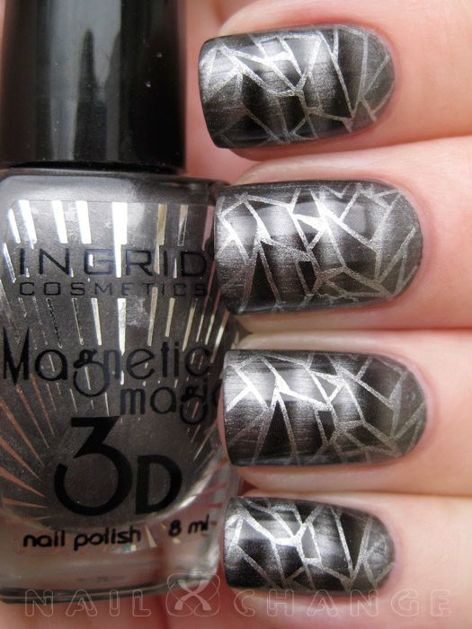 110 best magnetic nail polish & nail art design gallery by Nded ...