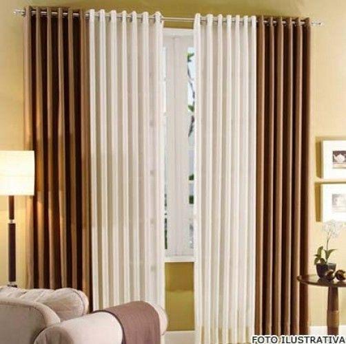 17 melhores ideias sobre cortinas modernas para sala no pinterest ...