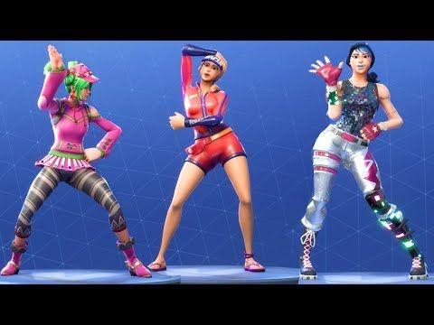 Fortnite All Dances Season 1 To 5 Youtube Effi In 2019 Dance