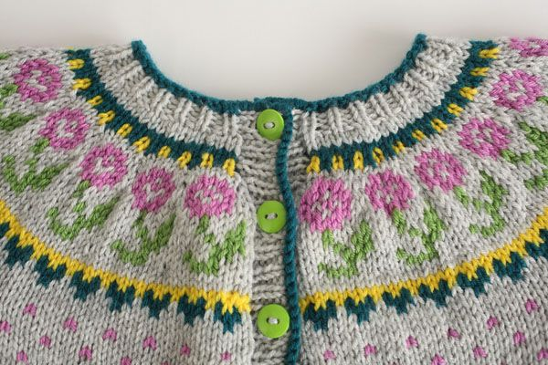Have fun with this cute little cardi, perfect for your favorite little person. There are no seams in this skill-building knit, so once you've sewn on the buttons you're ready to go!