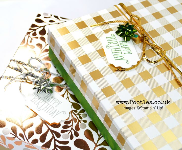 Stampin' Up! Demonstrator Pootles –Enormous Reinforced Lidded Birthday Year Of Cheer Box Oh this is just enormous! Got to love a big box, right? And how decadent and luxurious does thi…