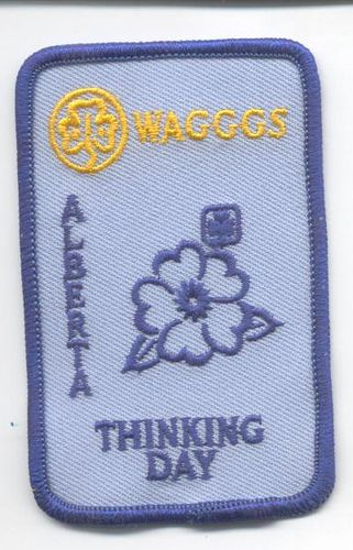 Alberta Thinking Day Girl Guides of Canada patch/crest. #GGC #Girl_Guides #patches