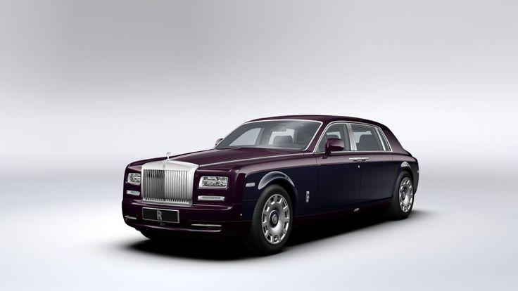 "Rolls Royce Phantom Extended Wheelbase Purple Silk Metallic / Indigo - 21"" polished 11-spoke wheels with Purple Silk inserts"