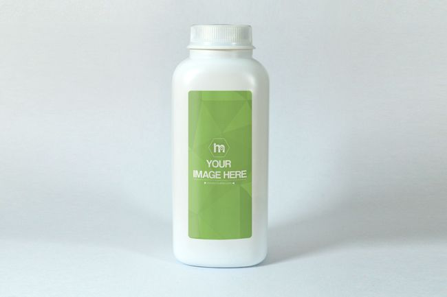Powder Bottle Label Mockup - Mediamodifier - Online mockup generator