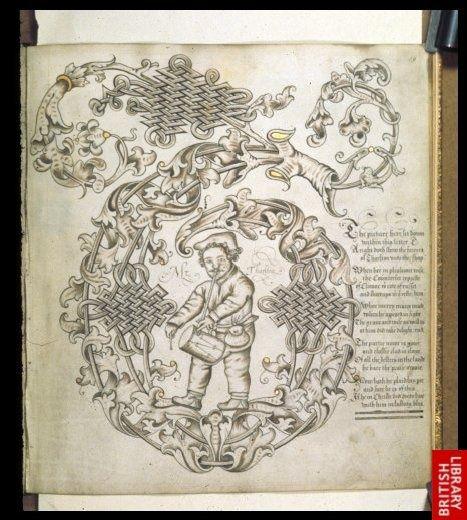 John Scottowes Alphabet Books Calligraphic Initial T