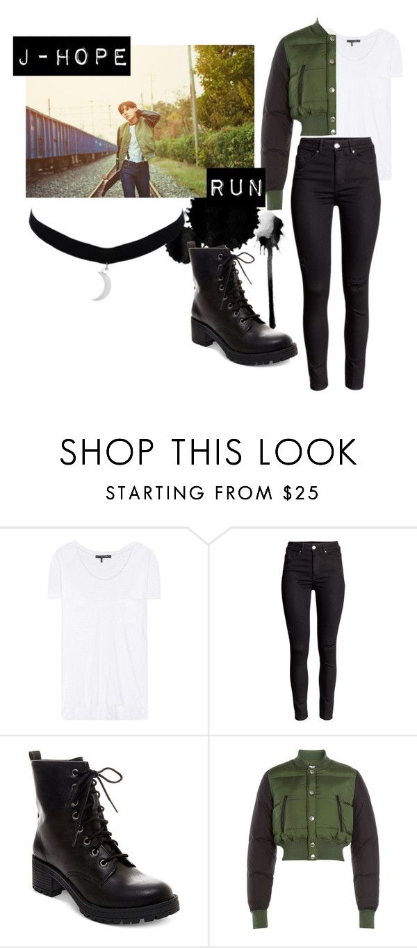 """""""BTS Run J-Hope inspired outfit"""" by mhobi on Polyvore featuring moda, rag & bone, Madden Girl, Dsquared2, women's clothing, women, female, woman, misses y juniors"""