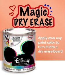 Apply over any color for a magic dry erase surface