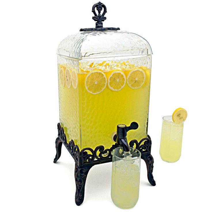 paris hammered glass beverage dispenser - Beverage Dispensers
