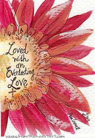 "Red Daisy ""Everlasting Love"" Print"