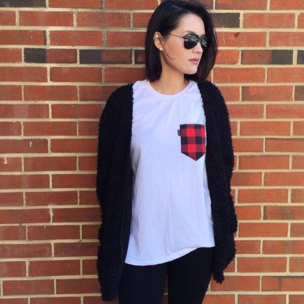 Women's clothing・Pocket tee・Sugar Shack・Quebec・Pattern・Montreal ❖ Vêtements pour femmes・Cabane à sucre・Chandail à poche・Carroté・Motifs・Montréal