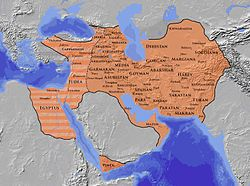 The Sasanian Empire, also known as the Neo-Persian Empire or Ērānshahr in the Middle Persian language, was the last Iranian empire before the rise of Islam, ruled by the Sasanian dynasty from 224-651. The Sasanian Empire, which succeeded the Parthian Empire, was recognized as one of the leading world powers alongside its neighboring arch rival the Byzantine Empire.