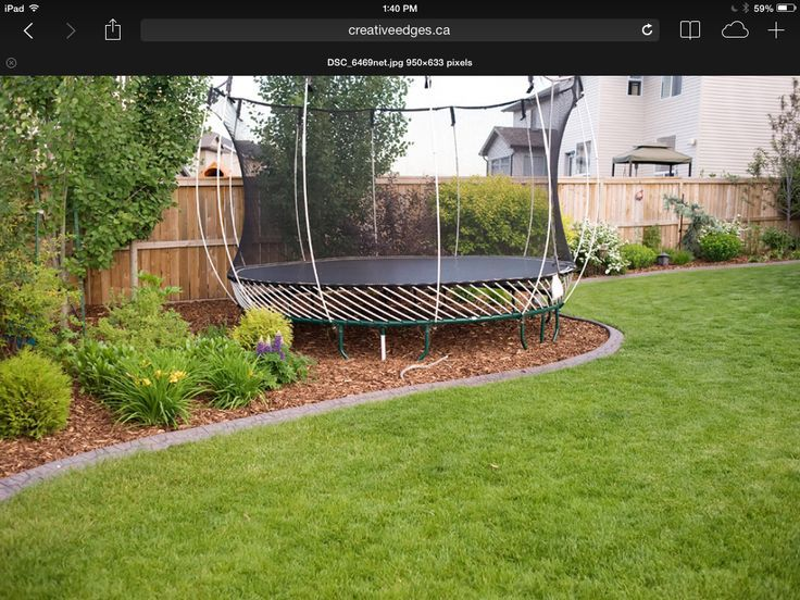 Image result for backyard private. trampoline