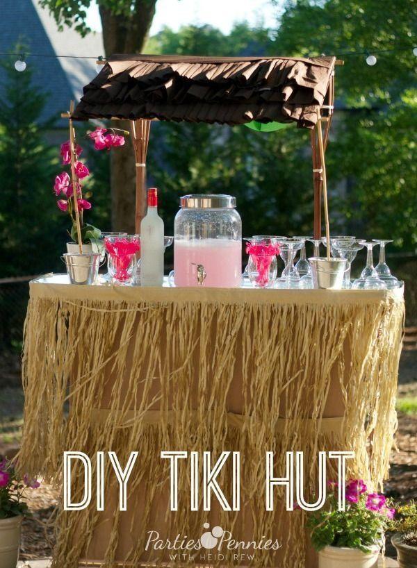 Tiki Hut Drinks Station