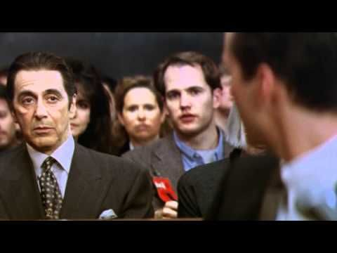 The Devil's Advocate - Trailer -scared the crap out of me---how simple ambition can become twisted into greed=evil-wake up call.