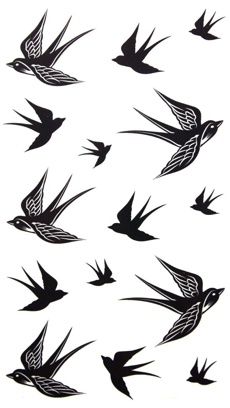 Ideas about bird tattoos on pinterest tattoos - Amazon Com 2012 New Design New Release Temporary Tattoo Waterproof Swallow Tattoo Stickers