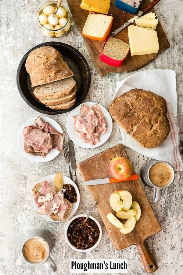 Gluten-Free Ploughman's Lunch. A simple, rustic British meal of crusty bread, meats, cheese, pickled foods and ale. Truly the best comfort food. - http://BoulderLocavore.com