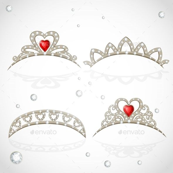 Openwork Jewelry Tiaras With Diamonds And Faceted