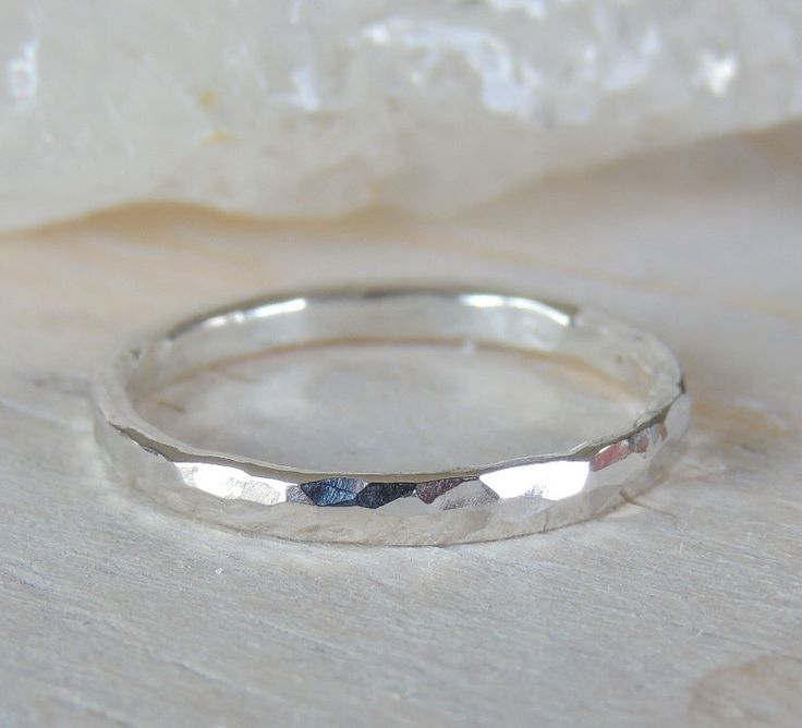 A personal favorite from my Etsy shop https://www.etsy.com/ca/listing/200384516/sterling-silver-band-hammered-silver