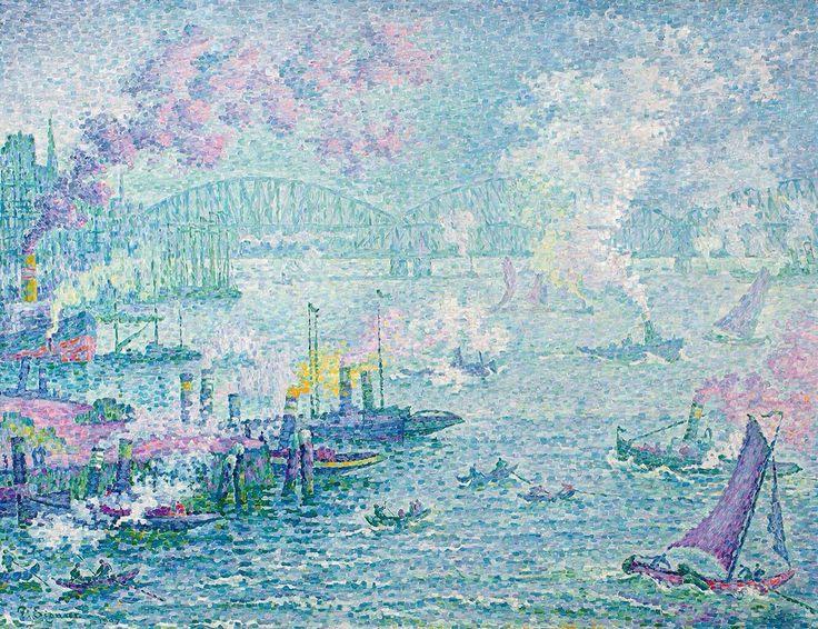 Le port de Rotterdam (De haven van Rotterdam) - Paul Signac
