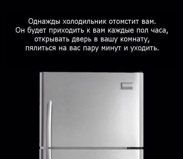 каждого прикольные картинки про холодильник уши писк