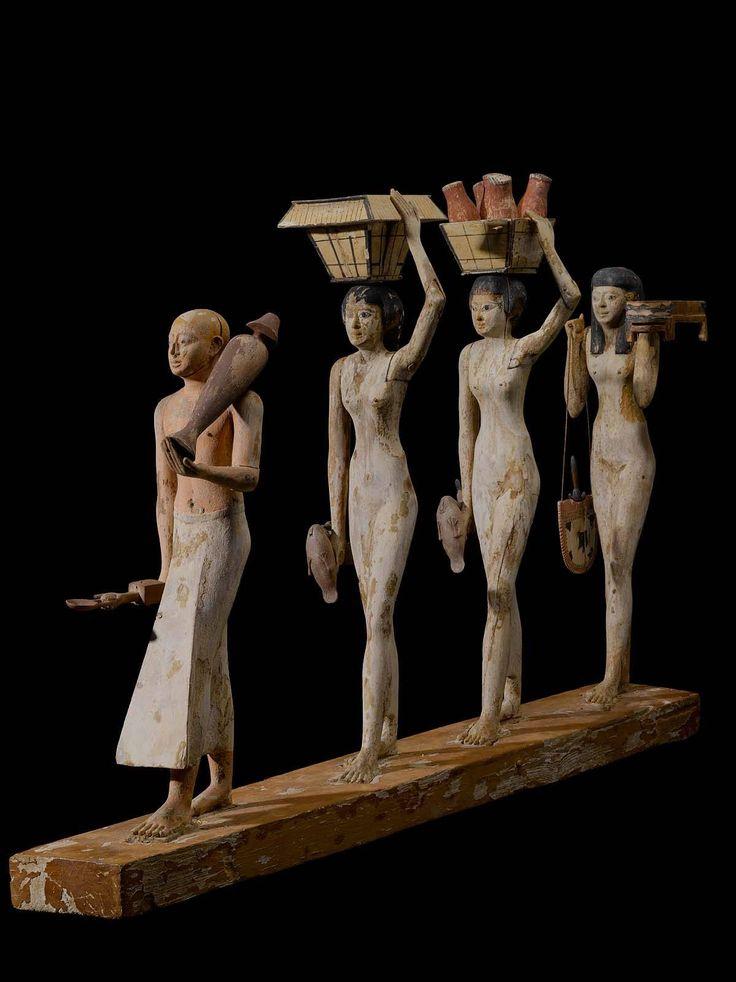 Ancient egypt. Portatori di offerte.