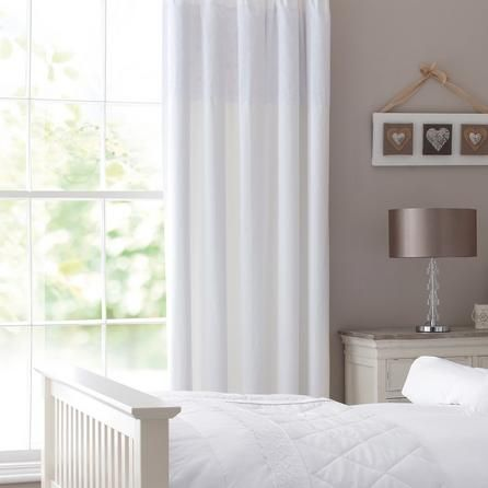 White Leighton Lined Pencil Pleat Curtains | Dunelm