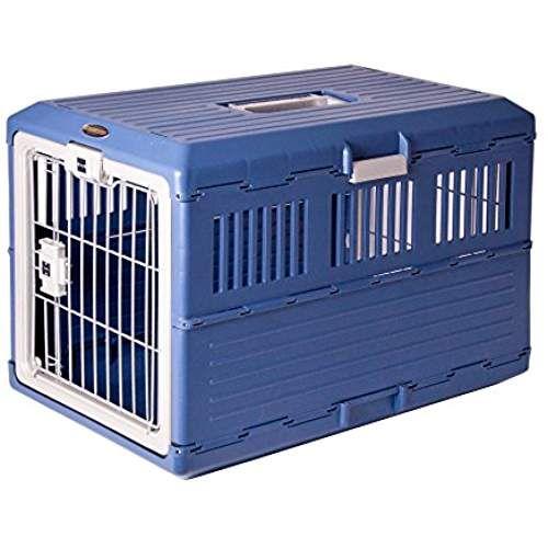 IRIS, faltbare Transportbox für Hunde und Katzen FC-670, Kunststoff, parisblau, 68,6 x 40,3 x 47,8 cm