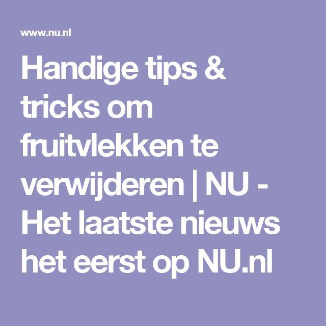 Handige tips & tricks om fruitvlekken te verwijderen | NU - Het laatste nieuws het eerst op NU.nl