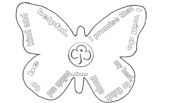 Rainbow promise butterfly template.