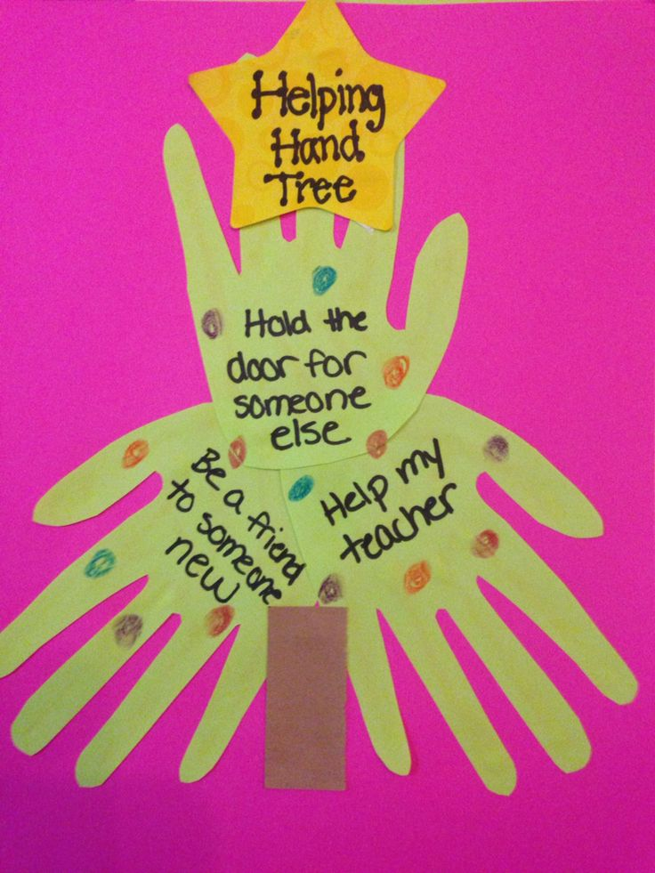 Earning our Sunny petal- Helping Hand Christmas tree craft (girls trace their hand, cut out, glue to look like a tree, write how they will be helpful on each hand, and decorate).