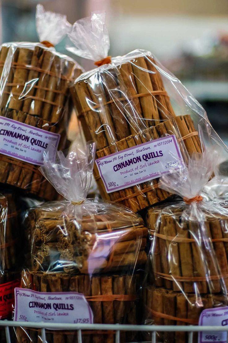 Sri Lankan cinnamon quills at Fiji Market, Sydney | heneedsfood.com