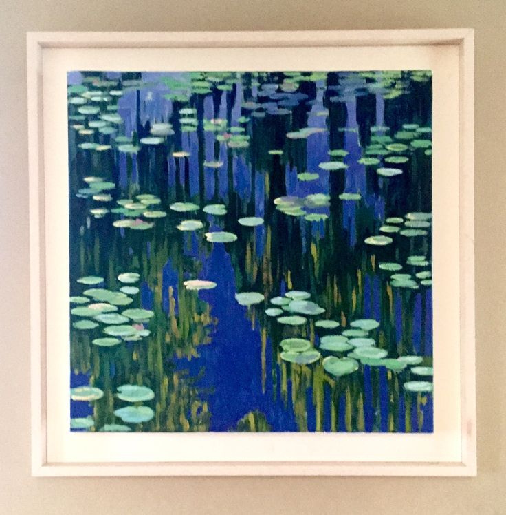 Waterlilies  Emerboweart.  Buy it now on my etsy > https://www.etsy.com/ie/people/emerbowe?ref=hdr_user_menu #Painting #oiloncanvas #Art #oilpainting #oil #canvas #paint #irish #irishartist #EmerBowe #wildlife #nature #Waterlillies #water #lillies #flowers #flower #Monet