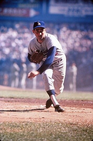 Heres a 1963 color transparency of the great Sandy Koufax.  This photo was taken during the 1963 World Series in Yankee Stadium by Marvin Newman.