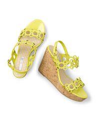 Kimberley Wedge (Sherbet Yellow Patent)