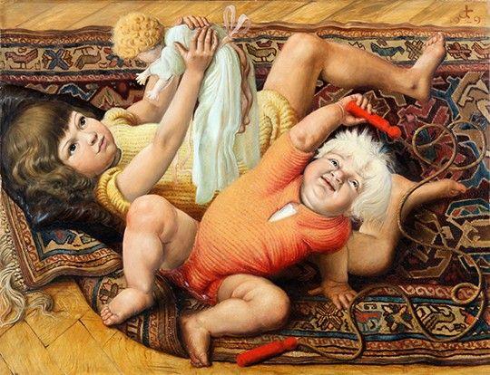 Отто Дикс «Играющие дети» Немецкий художник Отто Дикс считается основным представителем «новой вещественности» (Neue Sachlichkeit) в искусстве.
