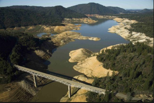 This is lake Oroville's water level this year. This picture is important to me because every summer growing up, my family and I would spend so much time there. Looking at how low the water level is today is unfortunate, my family definitely feels remorse for the lake. With little rain this year, not much water came down from the mountain and the lake has suffered. There aren't an abundant amount of fish now, and less water means less room for boats to be on the lake.