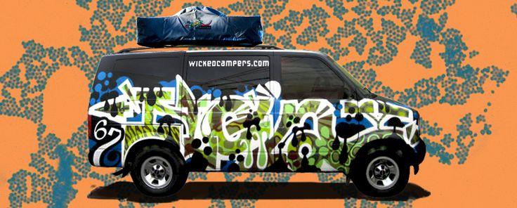 Wicked Campers: camper van rentals in Canada, USA, Australia