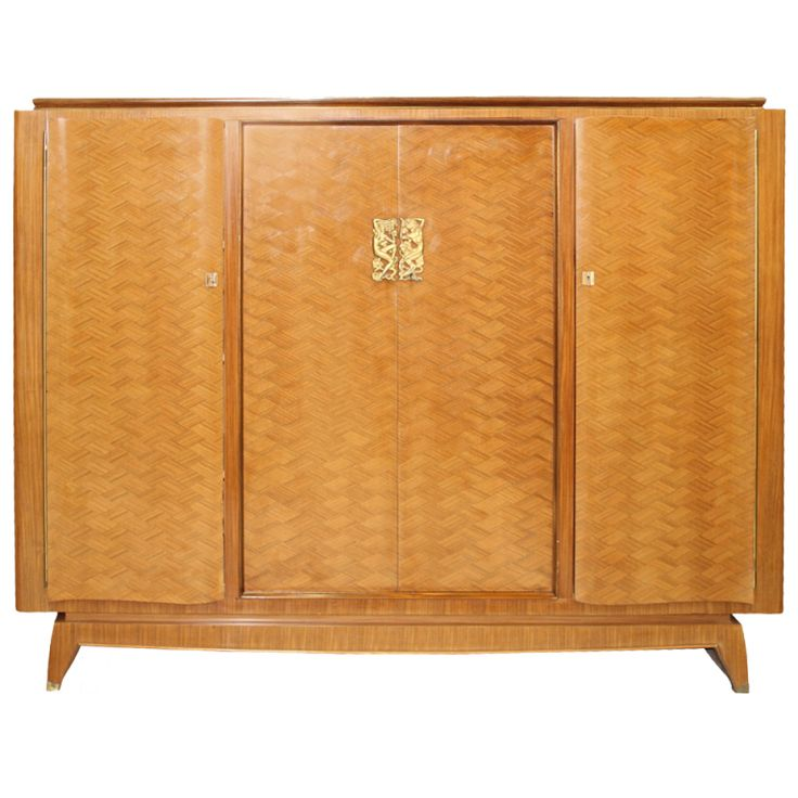 1stdibs | Rare French Art Deco Palisander with Bronze Armoire by Boyer